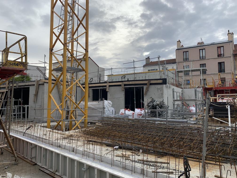 Programme neuf au Pré St Gervais, chantier en cours