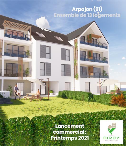 Investissement immobilier à Arpajon, un projet Birdy Promotion