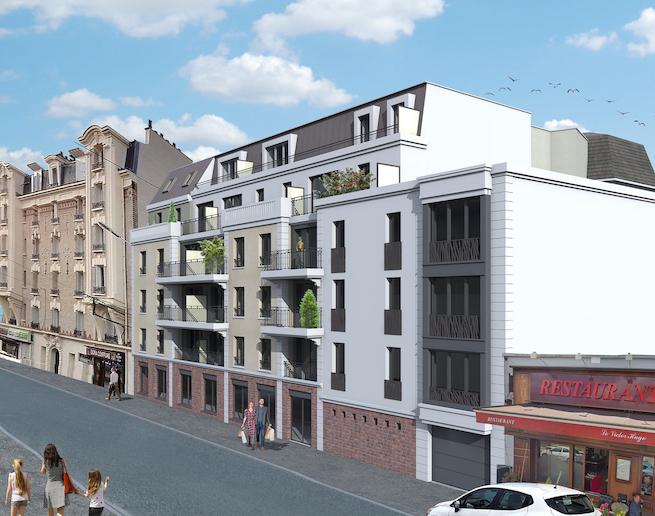Programme immobilier neuf à Neuilly Plaisance, façade Victor Hugo