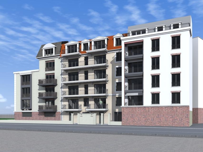 vue boulevard Fichot du programme immobilier neuf à Neuilly Plaisance