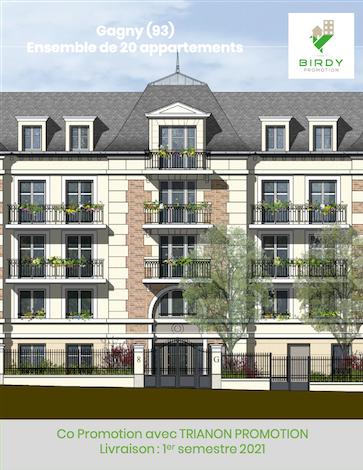 Birdy, en co promotion pour un immeuble de logements neufs locatifs à Gagny